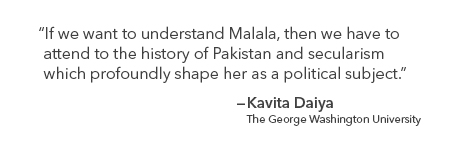 Quote by Kavita Daiya on how the history of Pakistan & secularism has shaped Malala