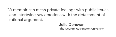 Quote by Julie Donovan on how the memoir literary format can serve as a record of history